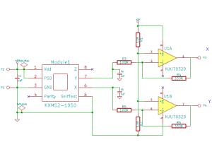 AccelaStick Sensor回路