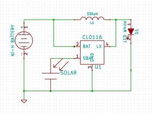 SolarLED照明 回路図