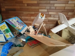 息子の作った飛行機